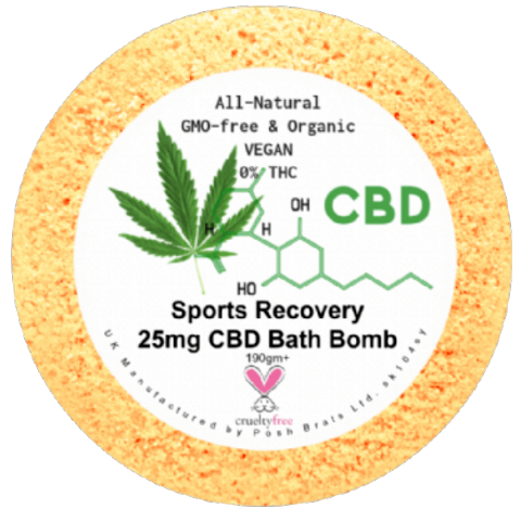 Sports Recovery CBD Hemp Oil Aromatherapy Bath Bomb - 25mg